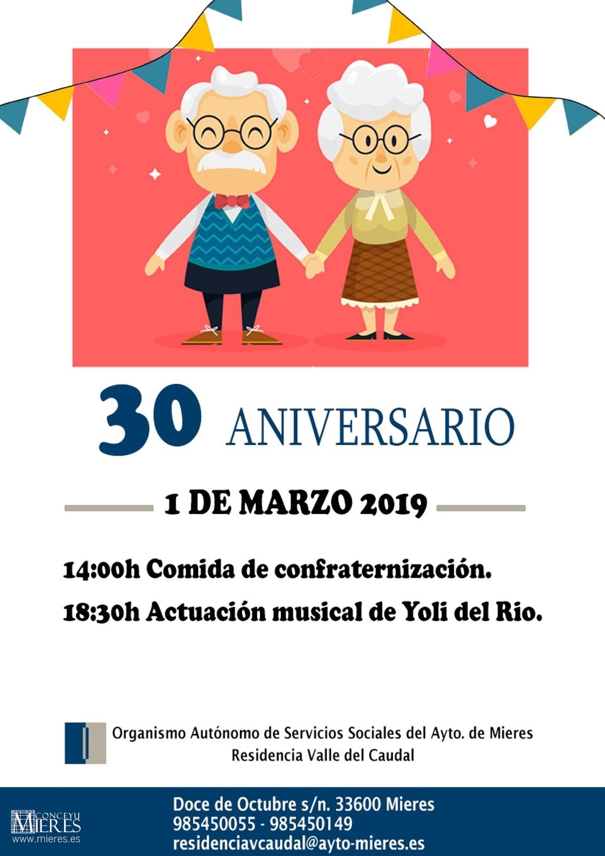 Cartel De Actividades 30 Aniversario OASSAM