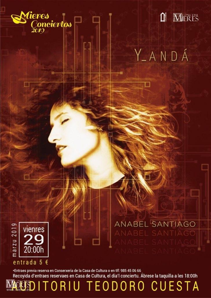Cartel Web Anabel Santiago Concierto Mieres