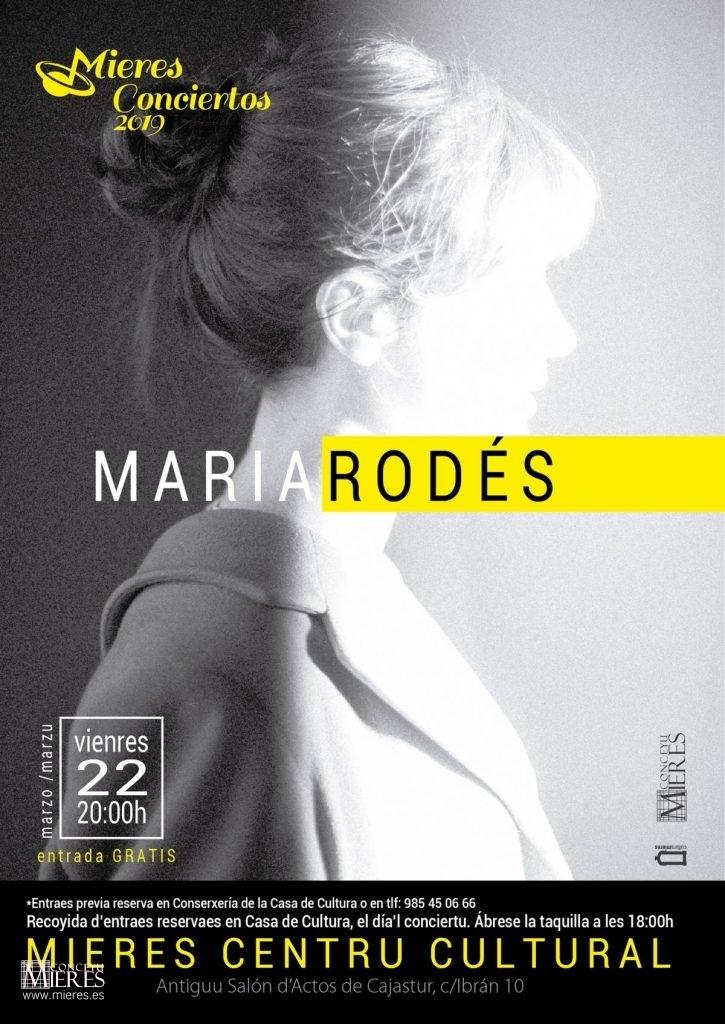 Cartel Concierto Maria Rodes