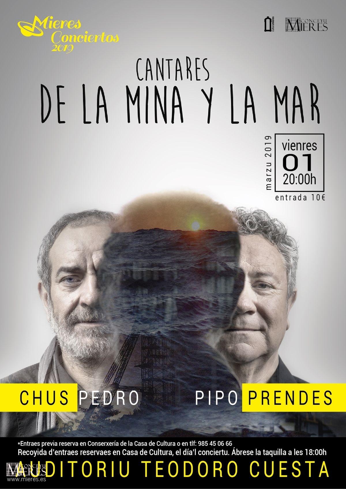 Cartel Web Cantares Mina Mar Chuspedro Prendes