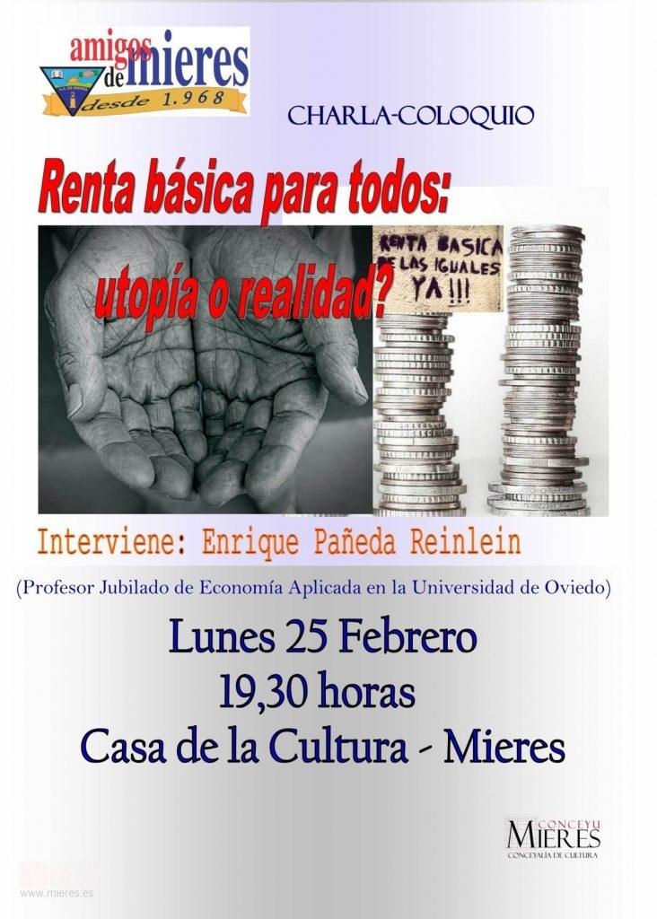 Cartel Web Charla Renta Basica Para Todos Amigos De Mieres