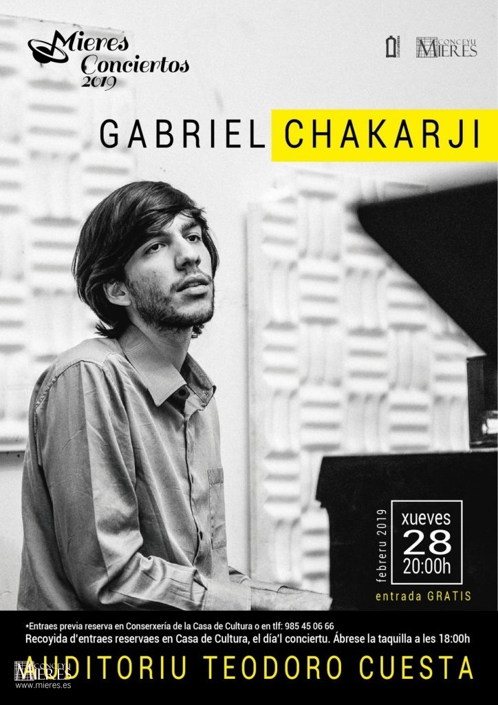 Cartel Web Concierto Gabriel Chakarji