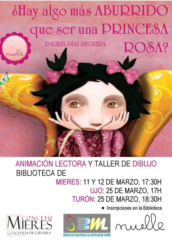 Cartel Web Talleres Princesa Rosa Bibliotecas Mieres