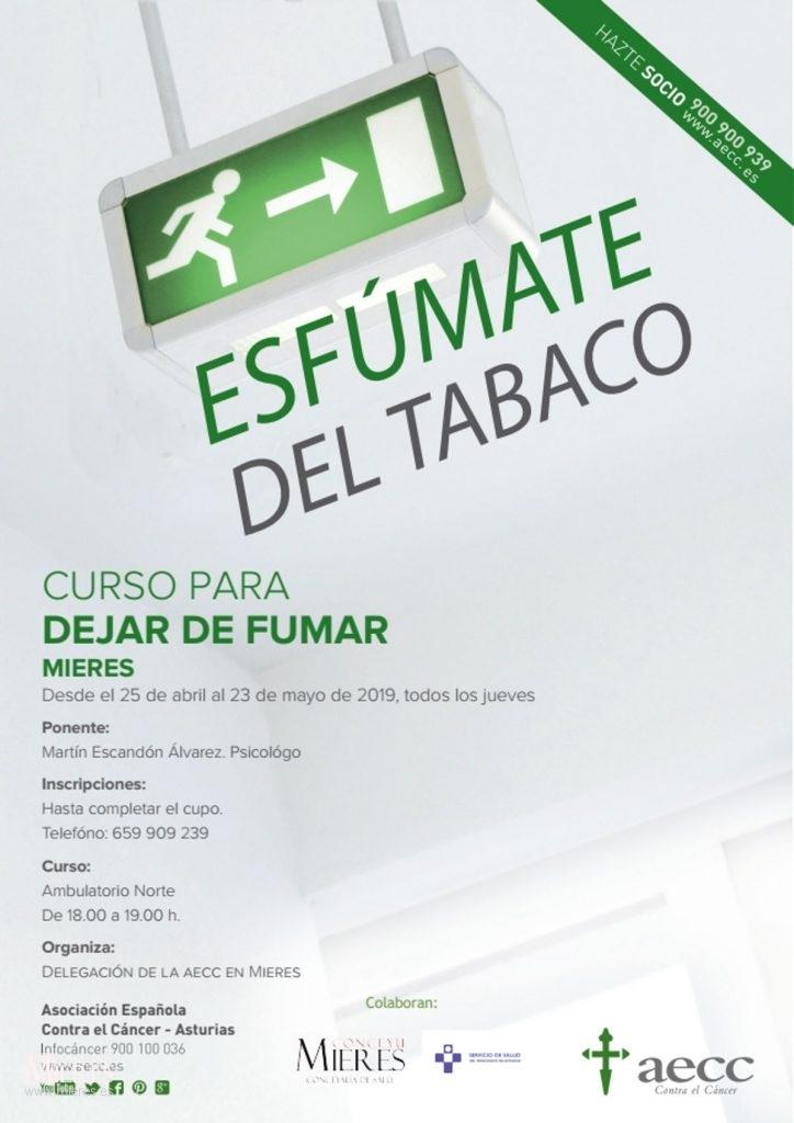 Cartel Esfumate Tabaco Mieres