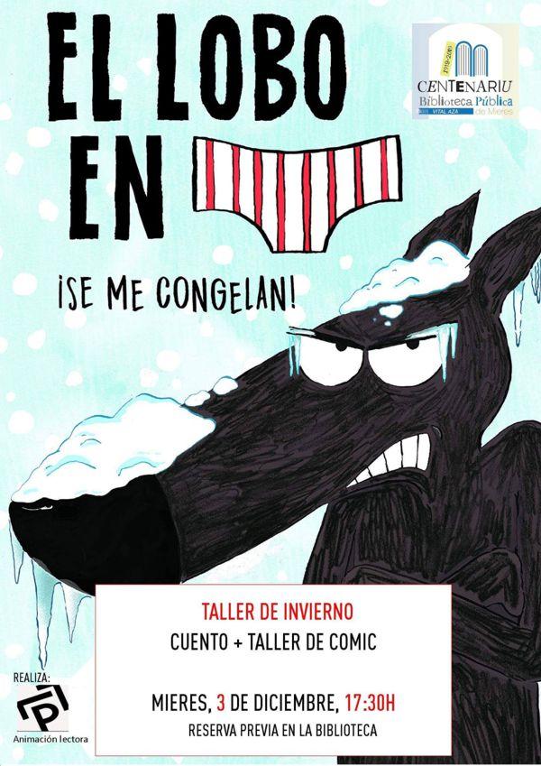 Cartel Taller Biblioteca Comic Invierno