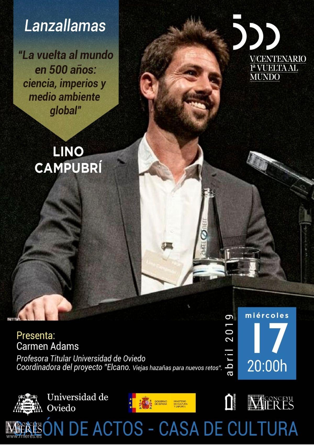 Cartel Web Charla Lino Camprubi
