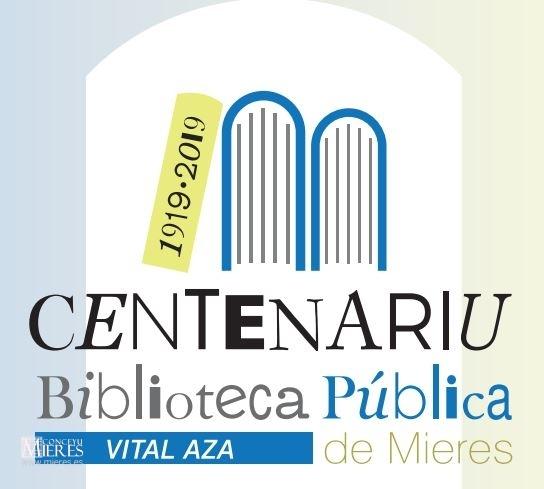 Logo Centenariu Biblioteca Mieres