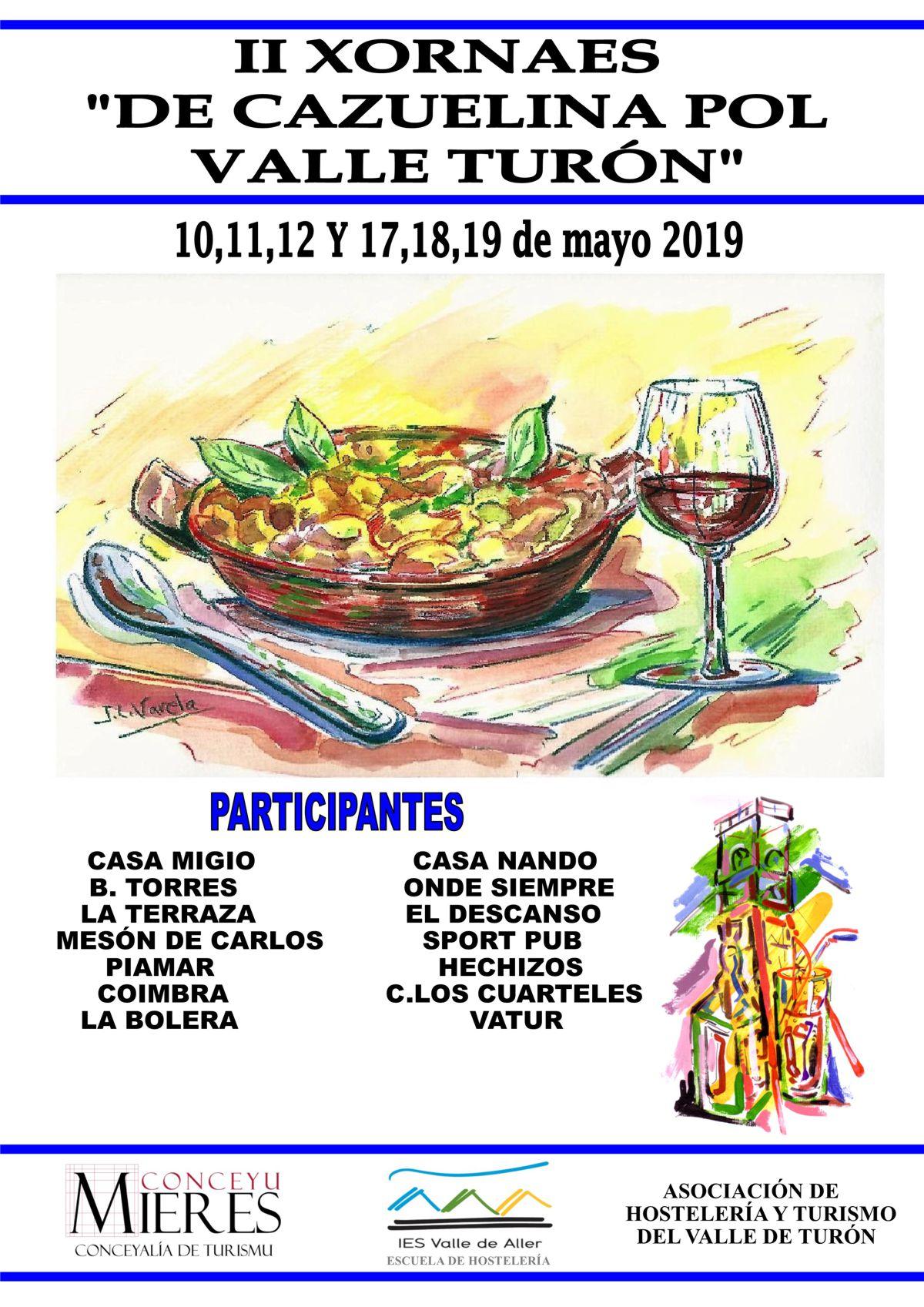 Cartel Web Jornadas Cazuelina Turon 2019