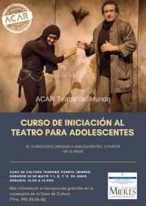 Cartel Web Curso Iniciación Al Teatro Para Adolescentes