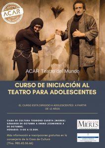 Cartel Web Curso Iniciación Al Teatro Adolescentes Mieres