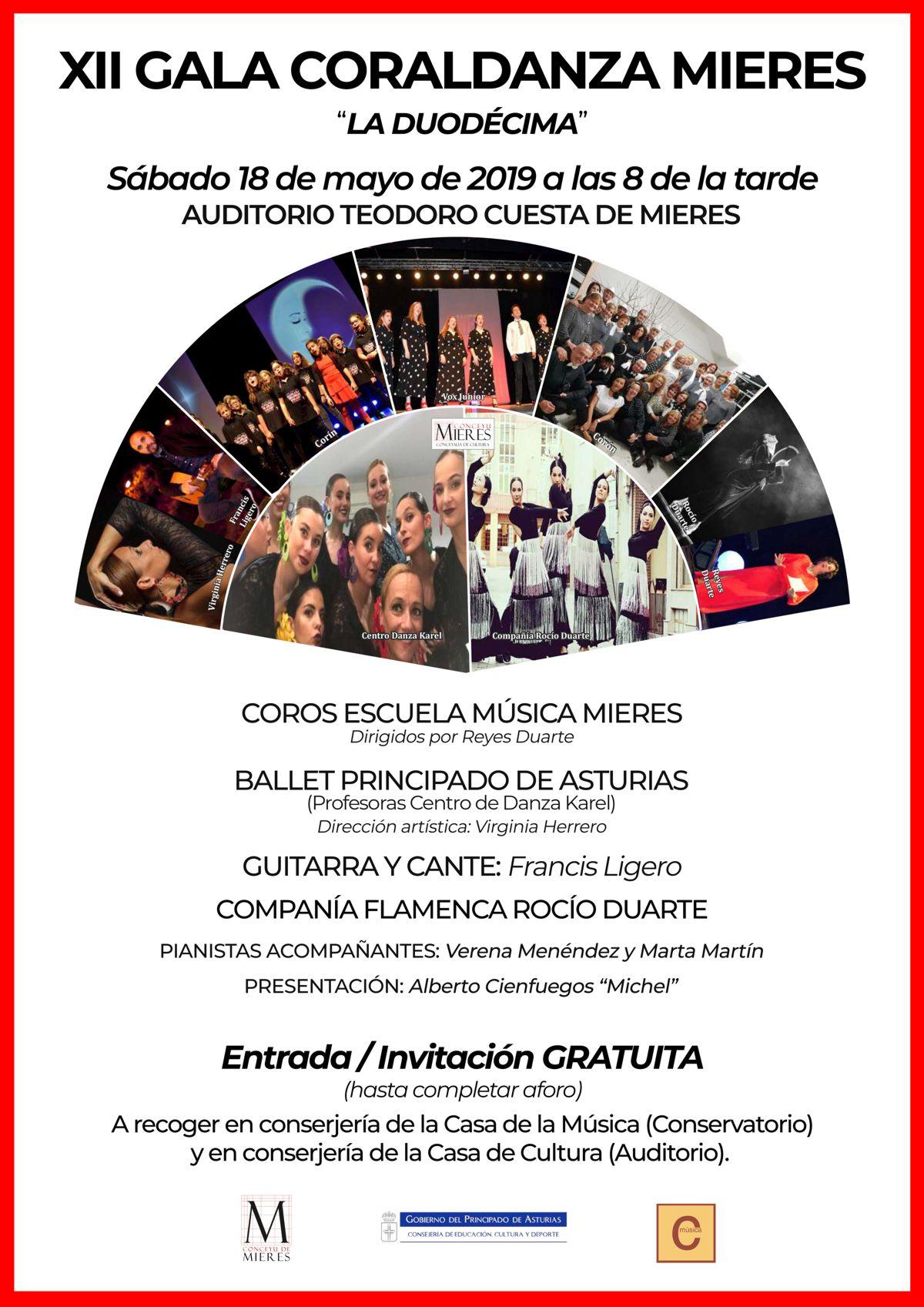 Cartel Web Gala Coraldanza 2019