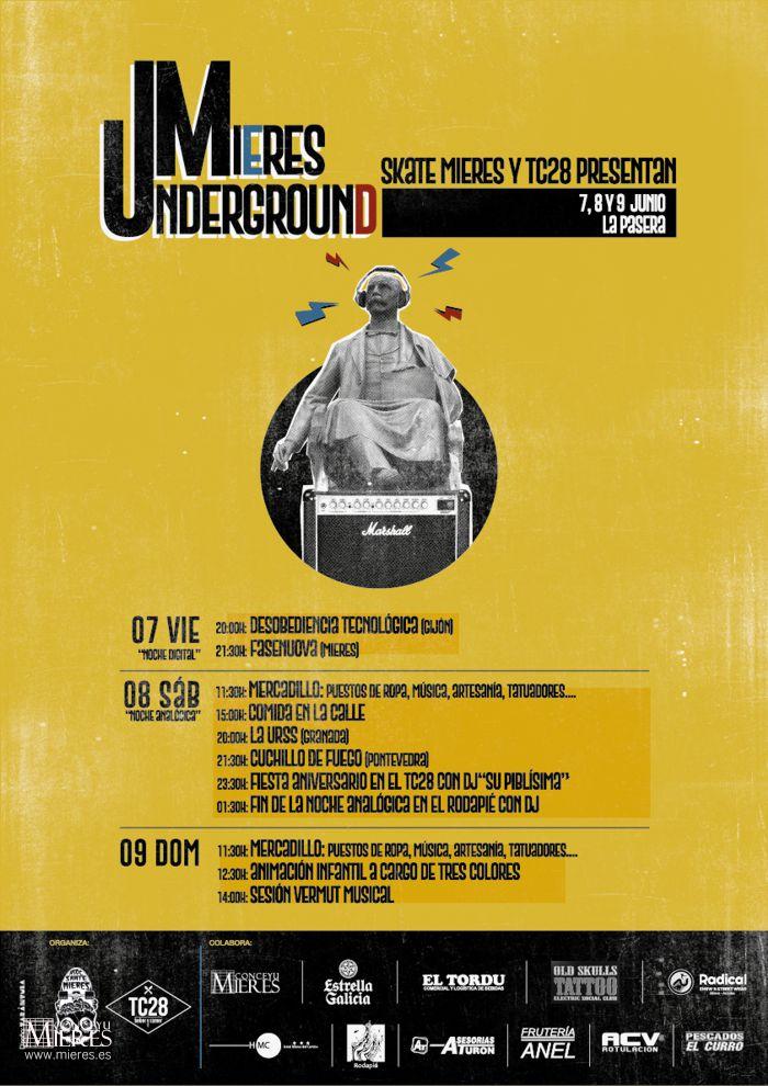 Cartel Web Mieres Underground 2019