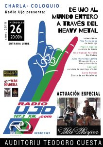 Cartel Web Charla Ujo Heavy Metal
