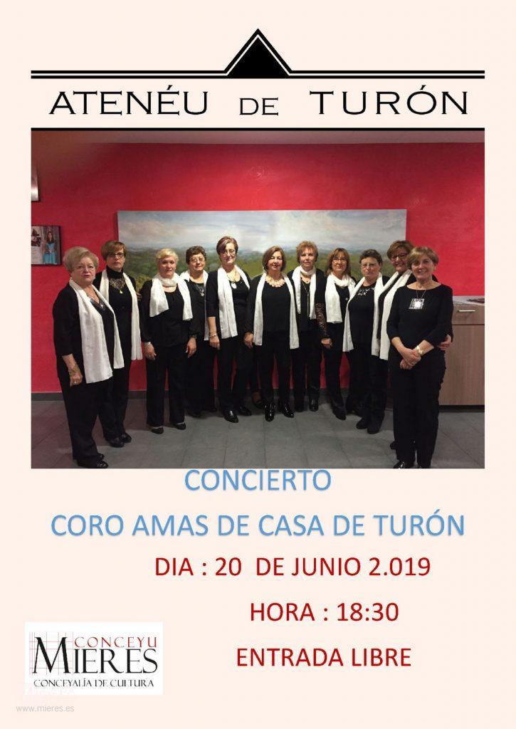 Cartel Web Concierto Coro Amas De Casa Junio Turon