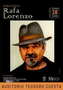 Cartel Web Concierto Rafa Lorenzo Mieres 2019