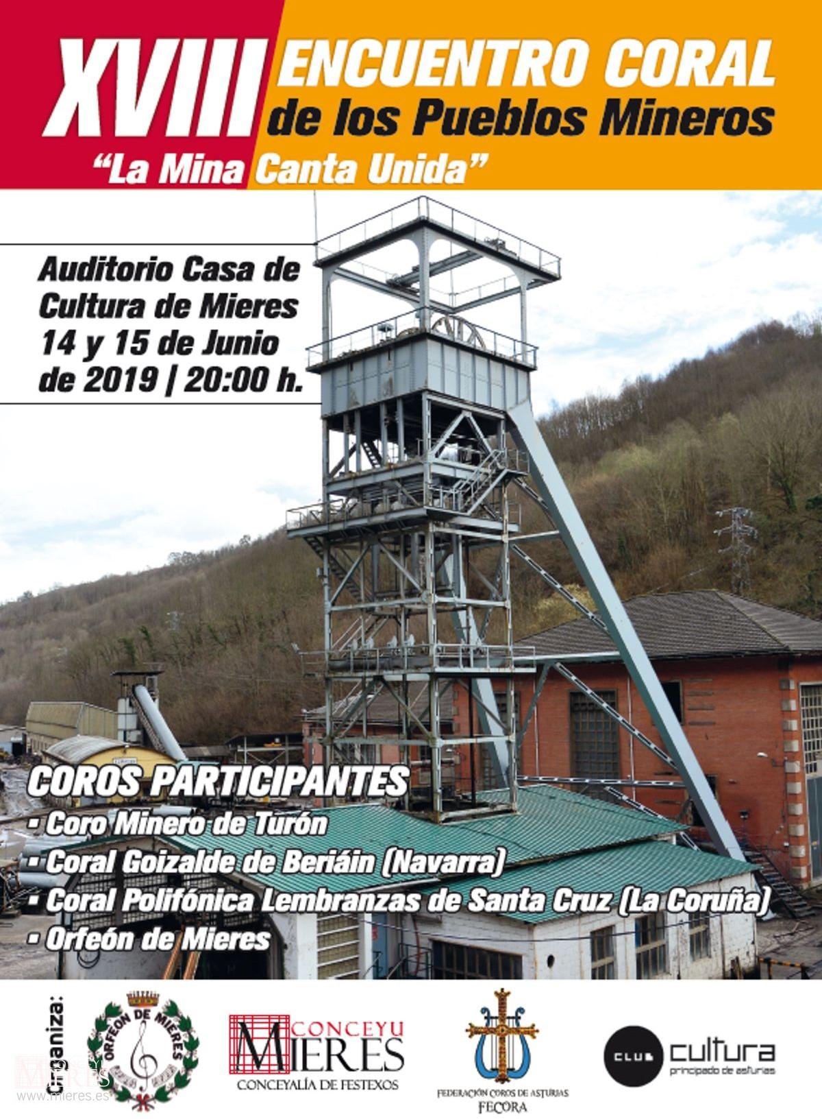Cartel Web Encuentro Coral La Mina Canta Unida 2019