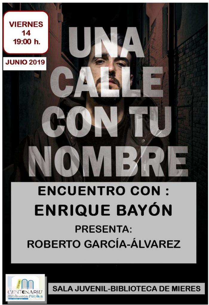 Cartel Web Encuentro Literario Enrique Bayon