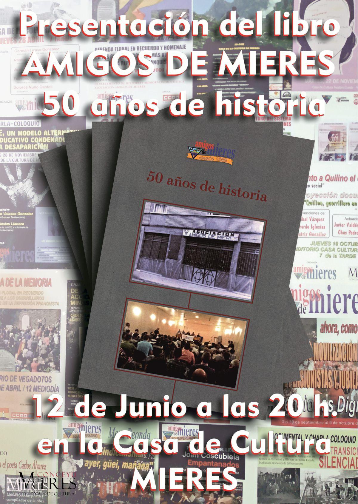 Cartel Web Presentacion Libro Asociacion Amigos De Mieres