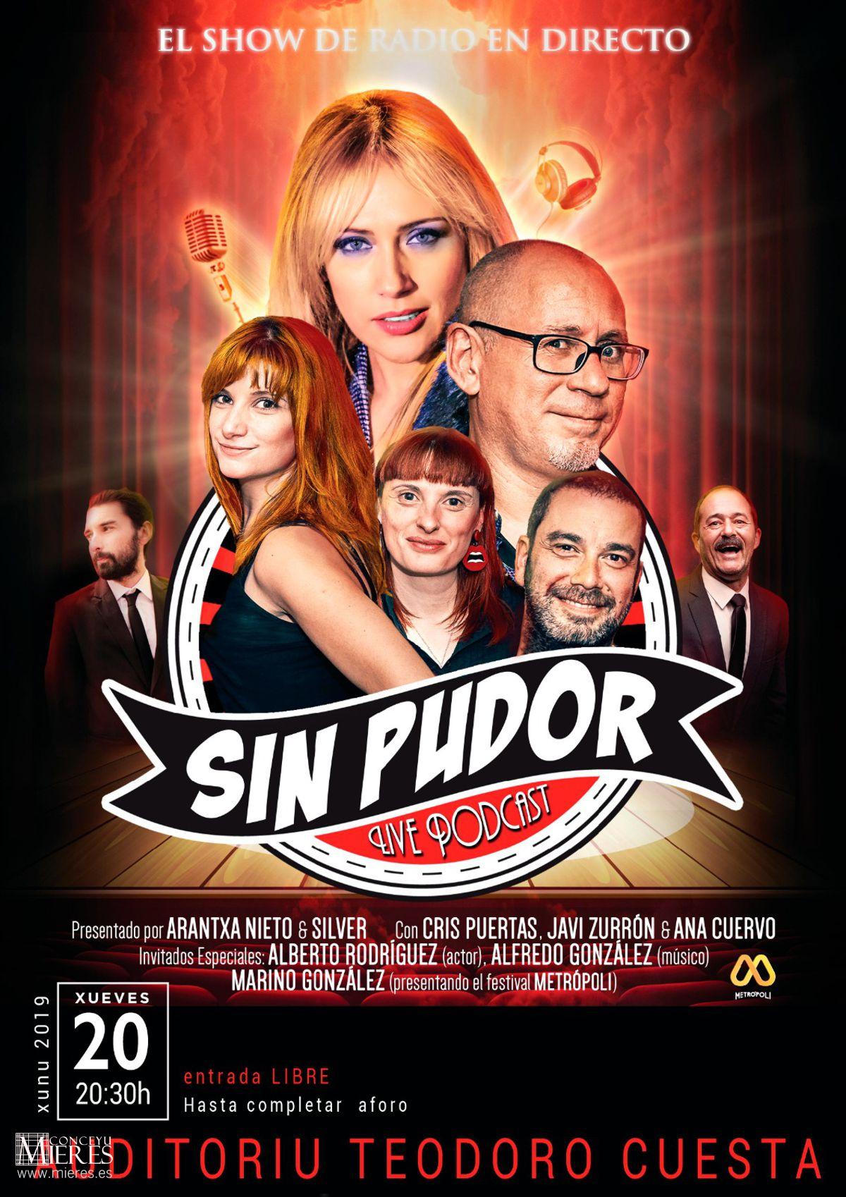 Cartel Web Sin Pudor Mieres Junio 2019