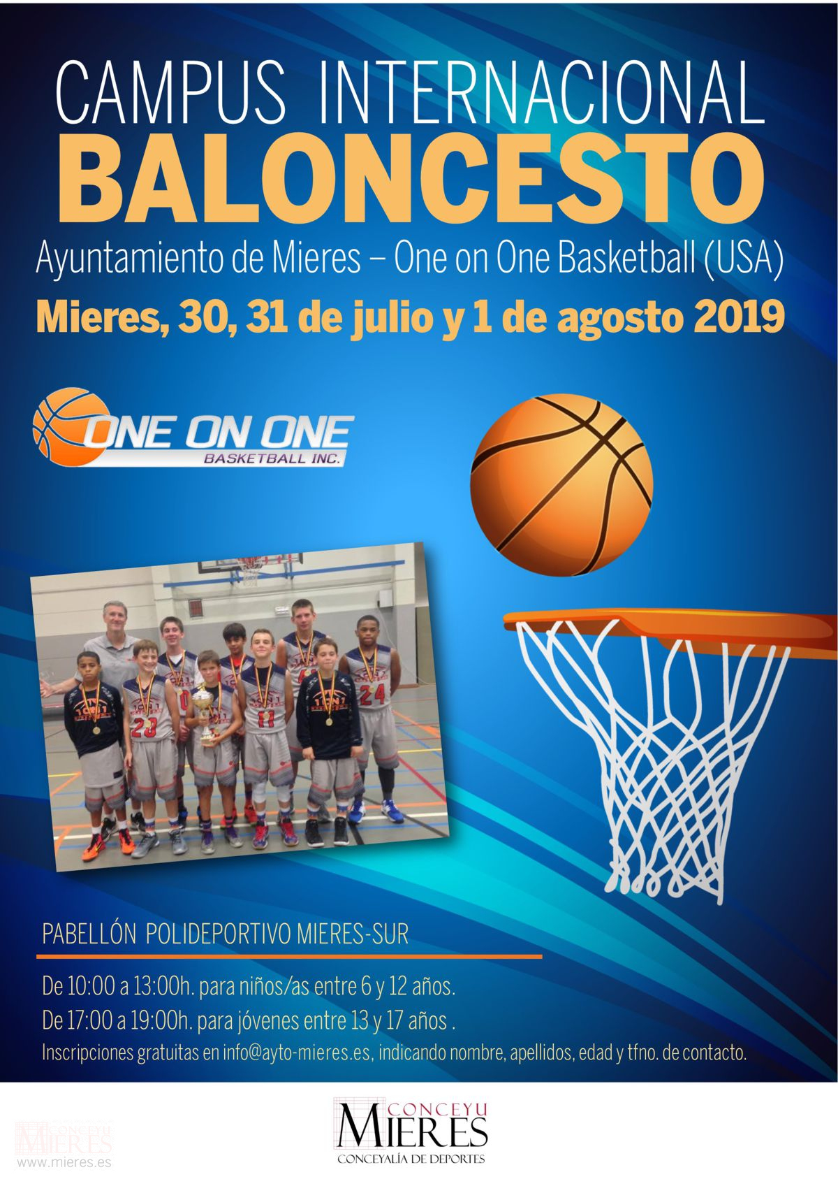 Cartel Web Campus Internacional Baloncesto 2019