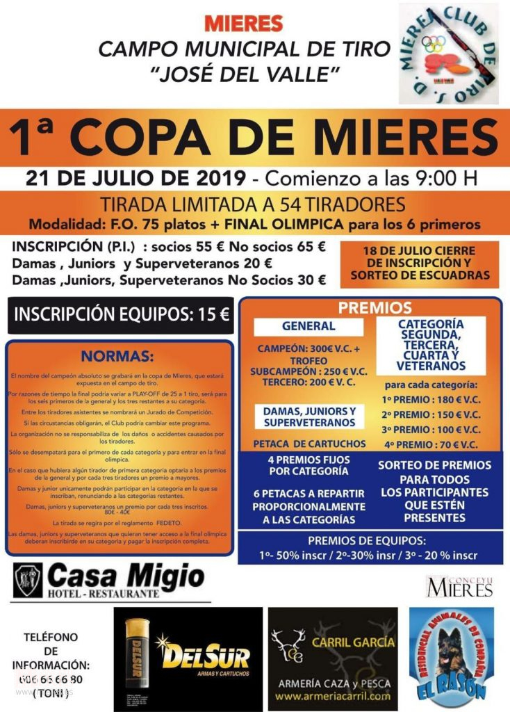 Torneo Tiro Mieres 2019