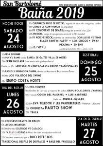 Cartel Web Fiestas Baiña 2019