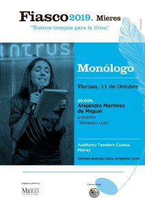 Fiasco 2019 Monologo Alejandra De Miguel