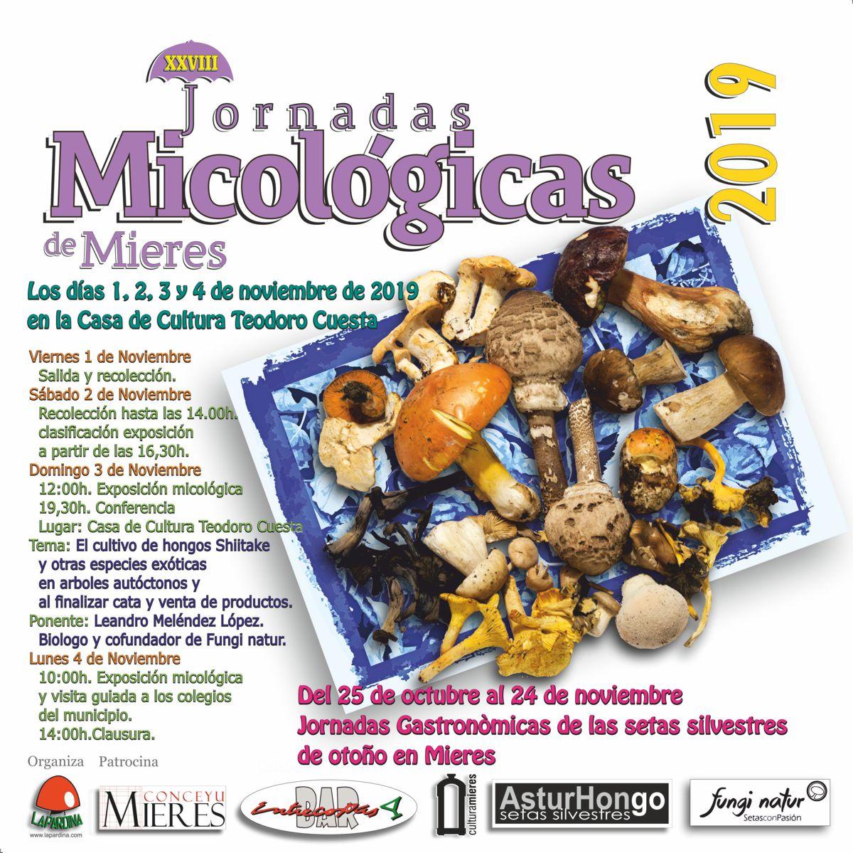 CARTEL WEB JORNADAS MICOLOGICAS LA PARDINA 2019