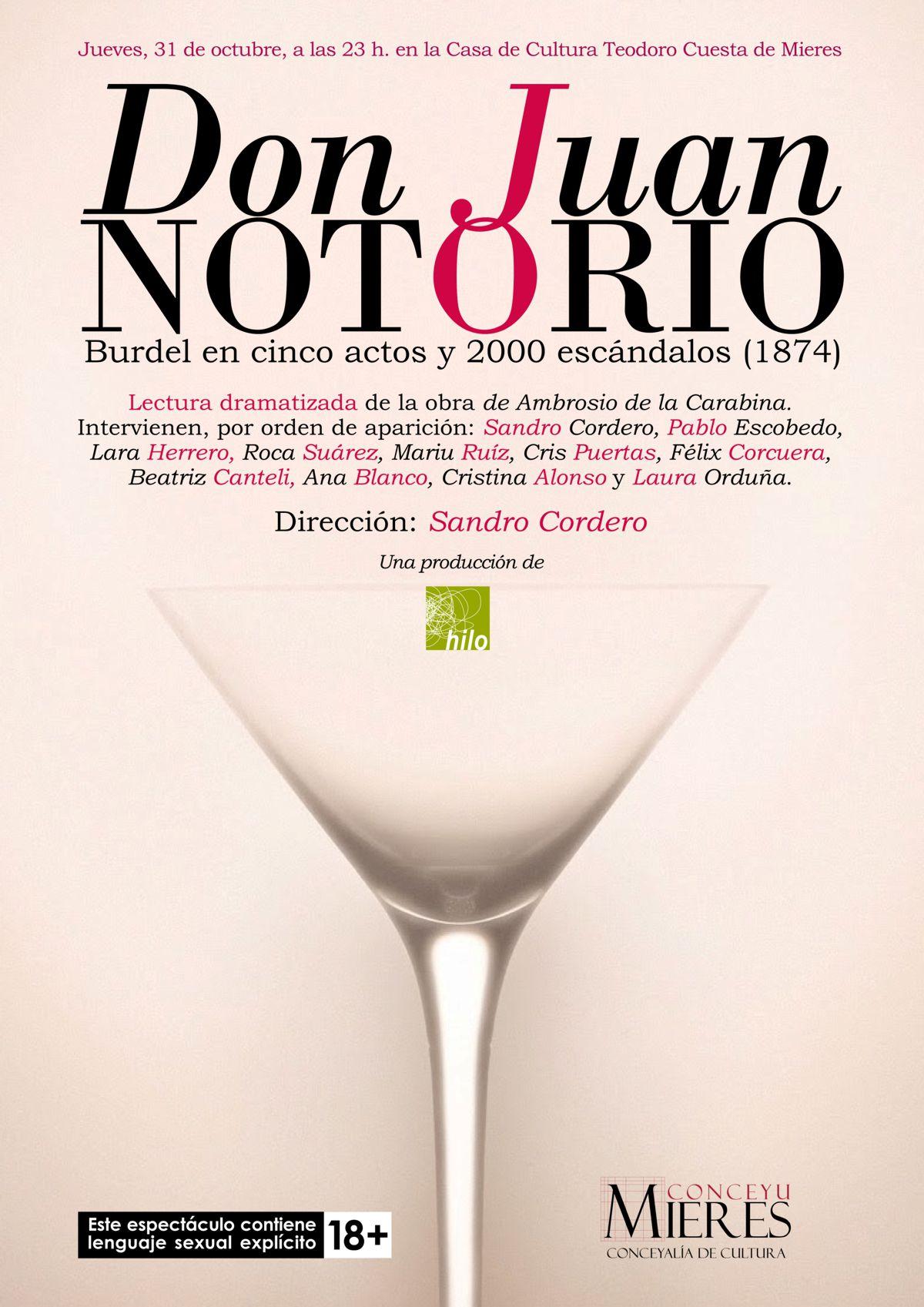 Cartel Web Don Juan Notorio 2019