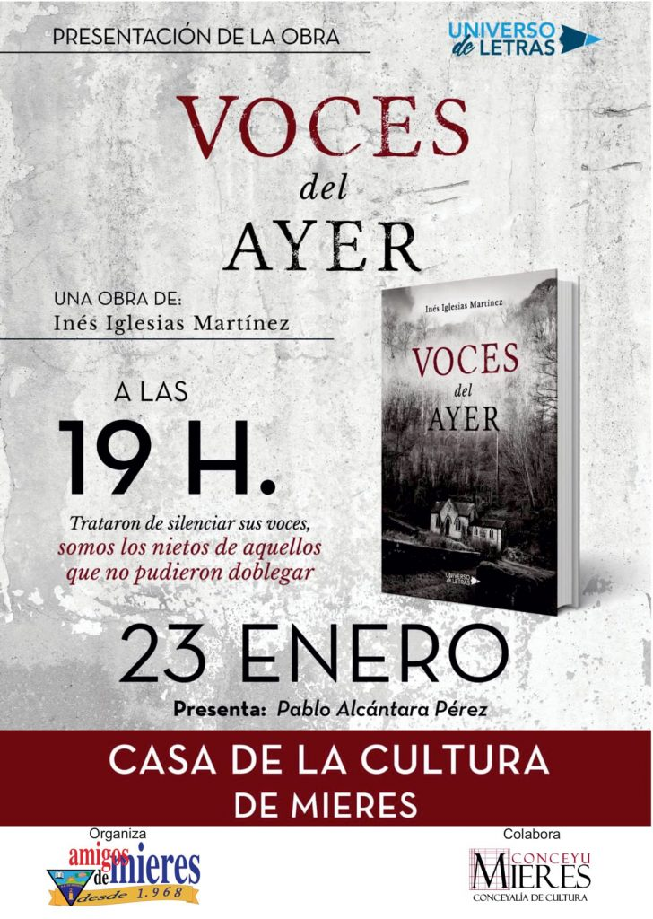 Cartel Web Presentacion Libro Voces Ayer