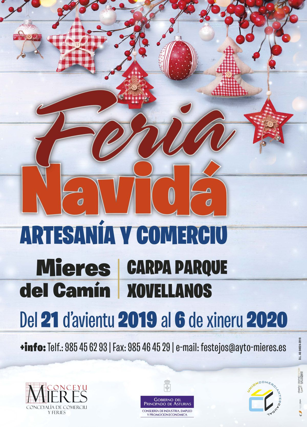 Feria Navidad Mieres Cartel Web (2019)