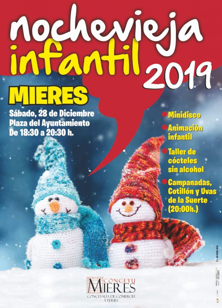 Cartel Web Nochevieja Infantil 2019