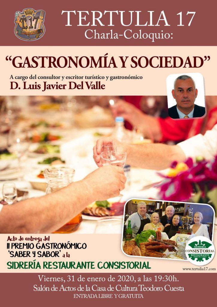 Cartel Web Tertulia 17 GASTRONOMIA Y SOCIEDAD