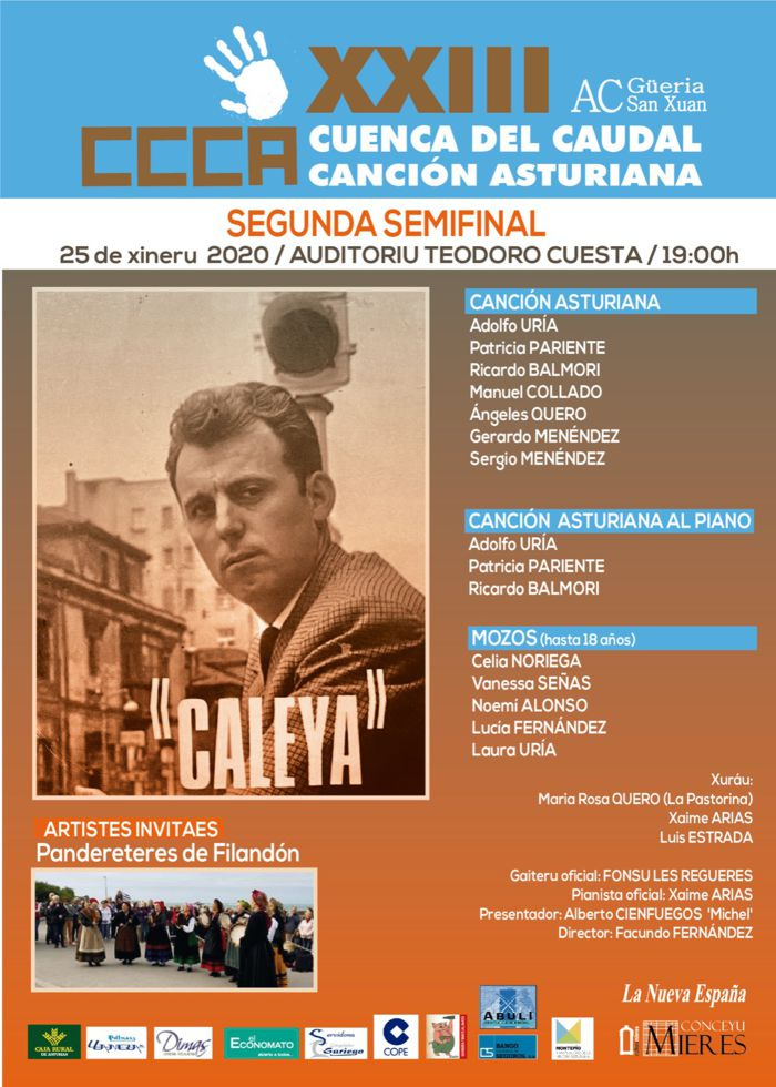 Cartel Concursu Cuenca Caudal 2ª Semifinal 2020