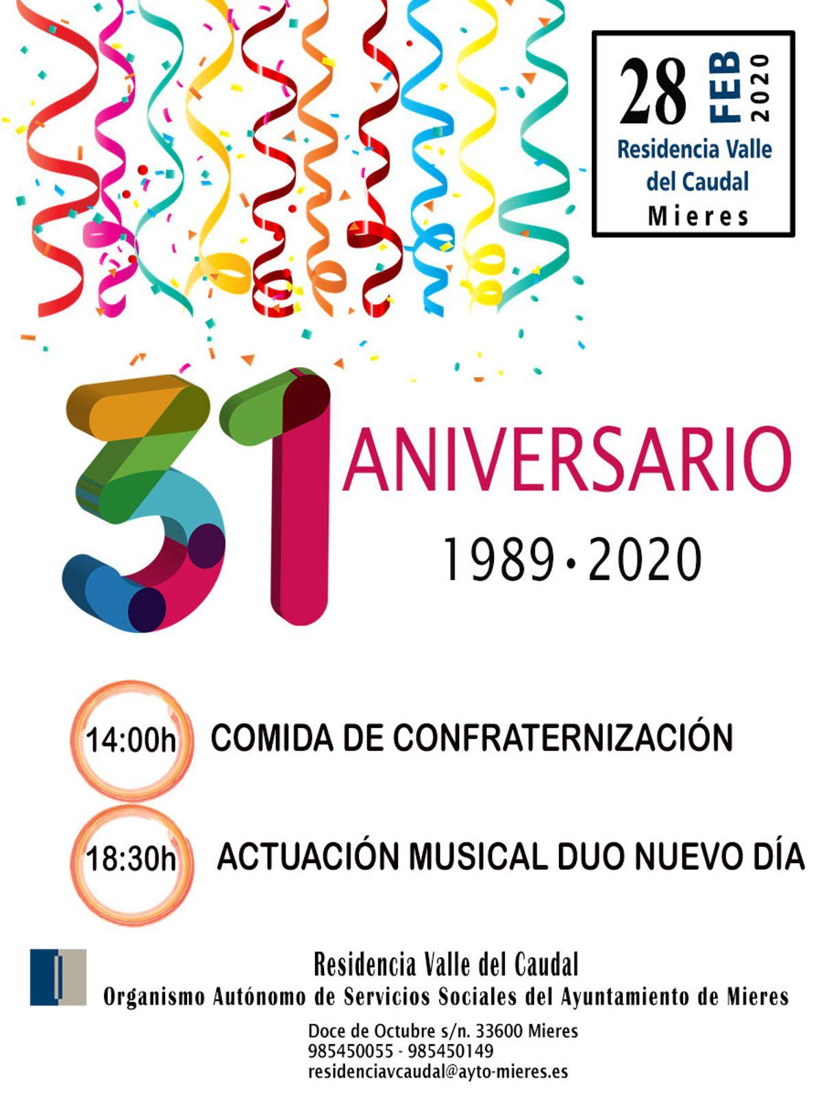 Cartel 31 Aniversario Residencia Web