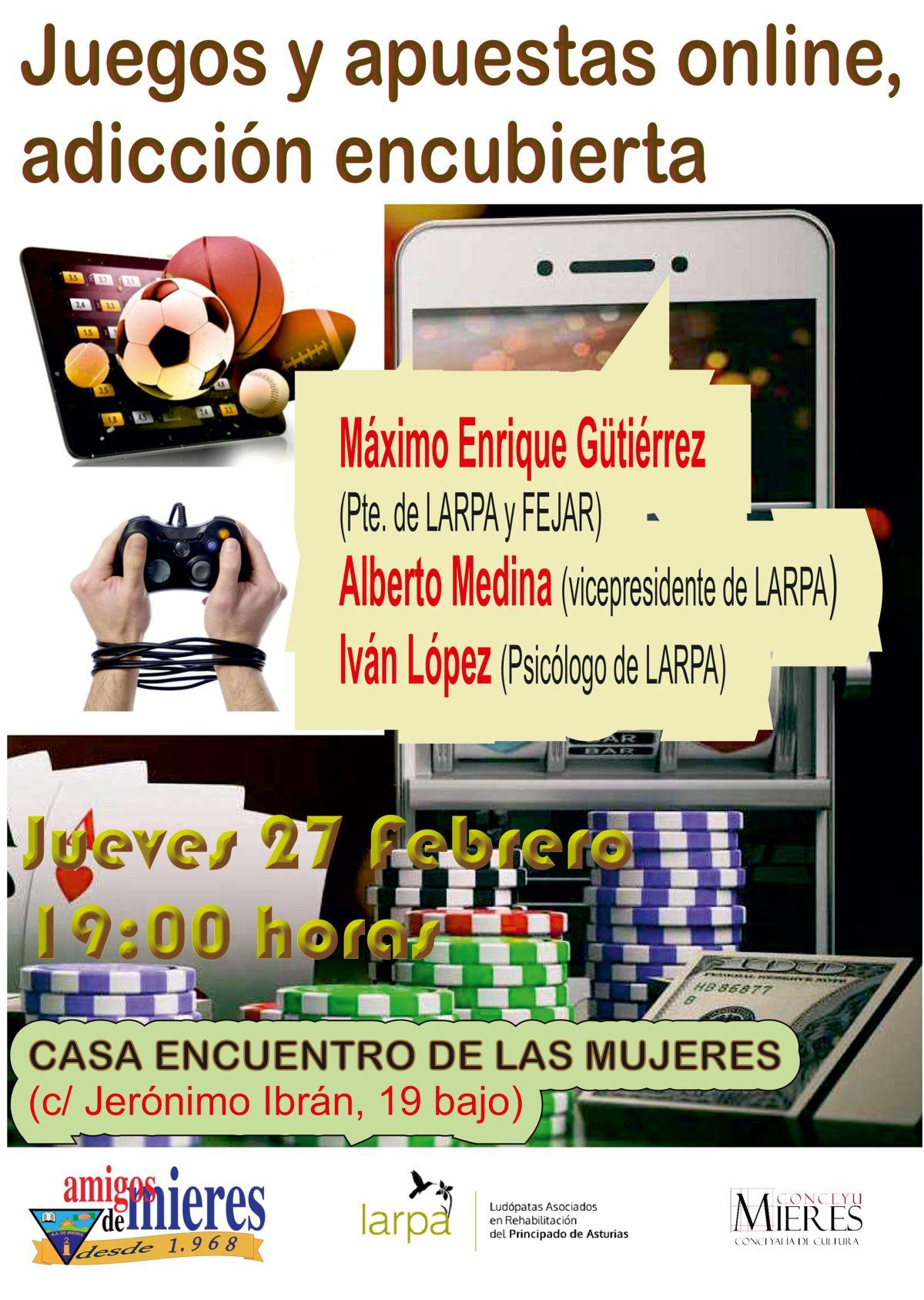 Cartel Web Adicciones Juegos Online
