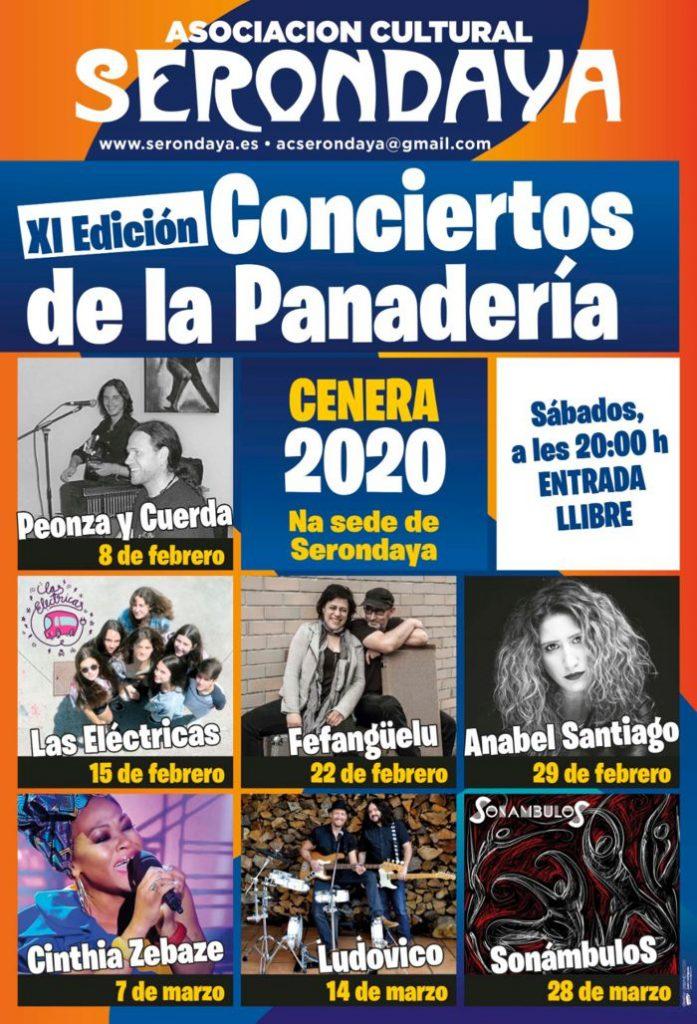 Cartel Web Conciertos Panaderia 2020