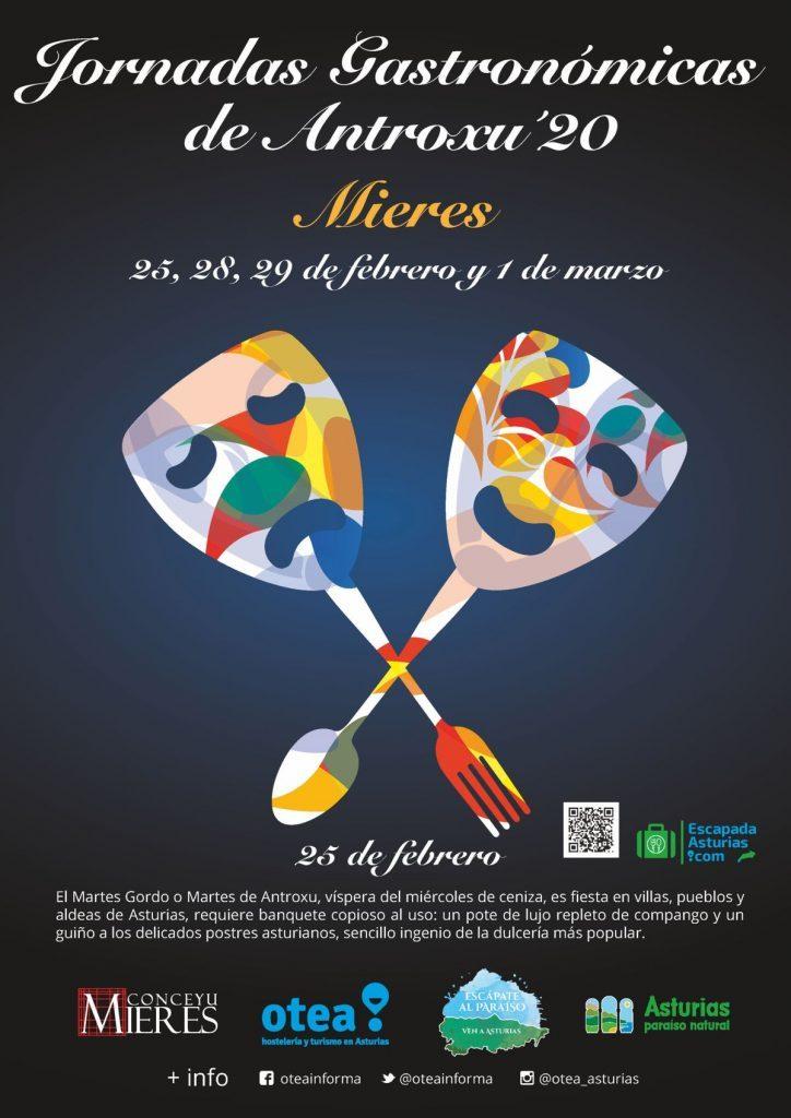 Cartel Web Jornadas Gastronomicas Antroxu 2020 724x1024