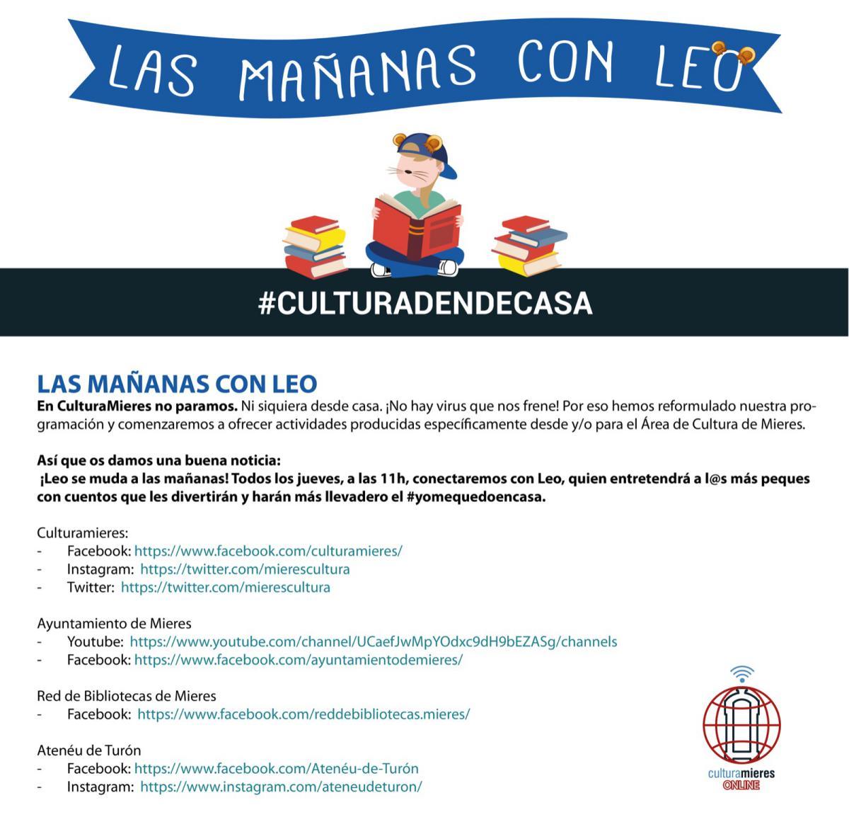Mañanas Con Leo Jueves Culturadendecasa Web