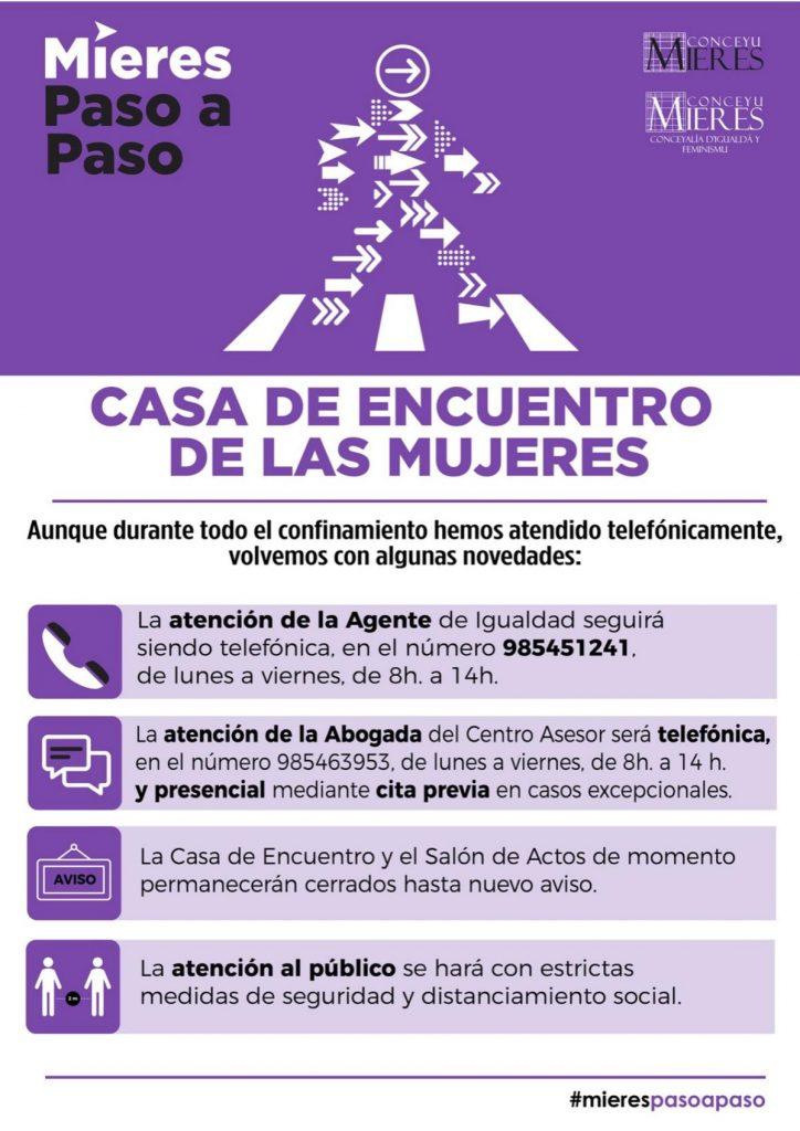 Desescalada Casa Encuentro Mujeres Mieres Web