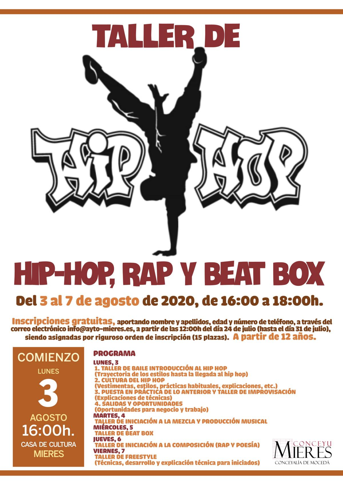 Taller Hip Hop Jovenes 2020 Web