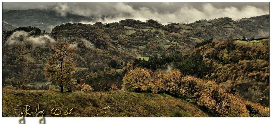 Valle de Cuna y Cenera desde la bajada a Viesca | José Ramón Viejo