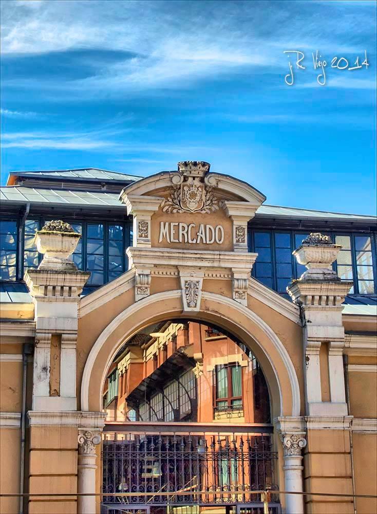 Detalle entrada plaza de abastos | José Ramón Viejo