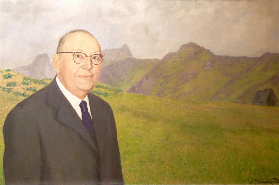 'Retrato de D. José Sela y Sela'(Alcalde de Mieres 1923-1930) | Autor: J. Mª. Fernández Peláez