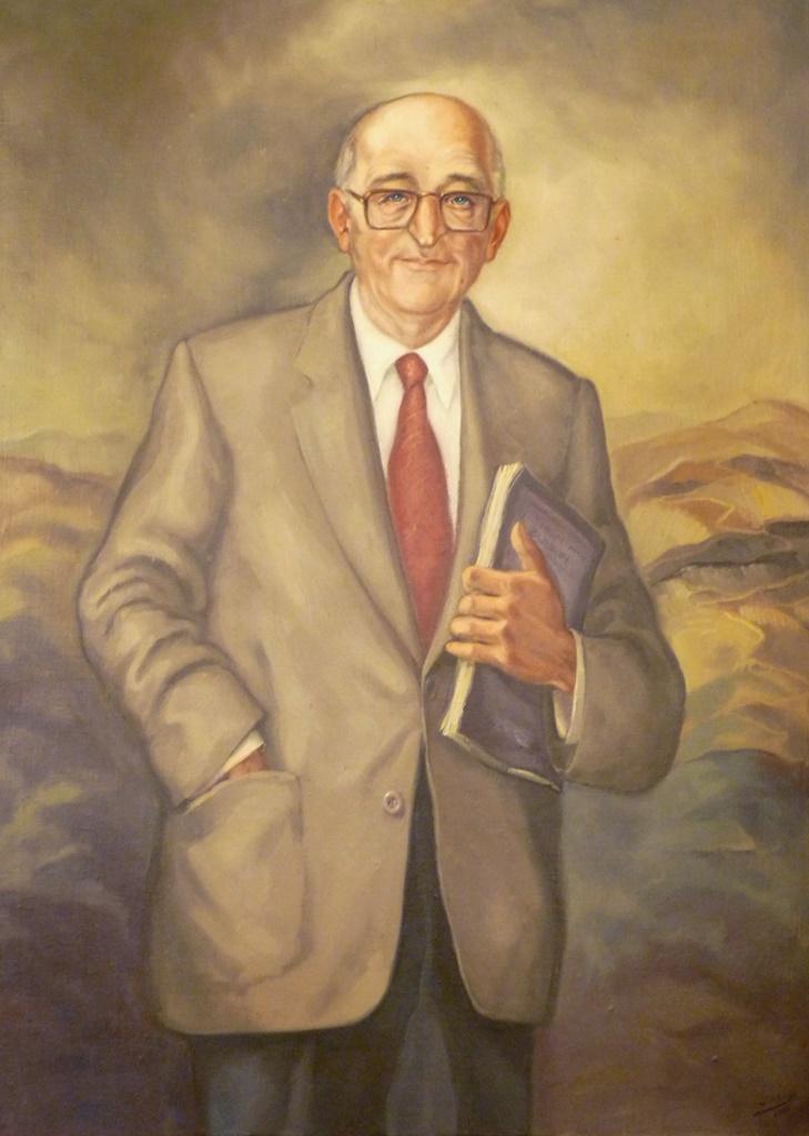 Retrato de D. Vital A. Buylla Rodríguez'(Alcalde de Mieres 1979-1984) | Autor: Inocencio Urbina