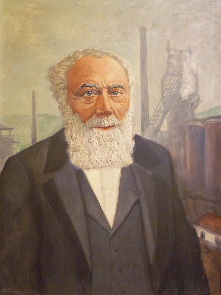 Retrato de D. Numa Gilhou | Autor: J. Mª. Fernández Peláez