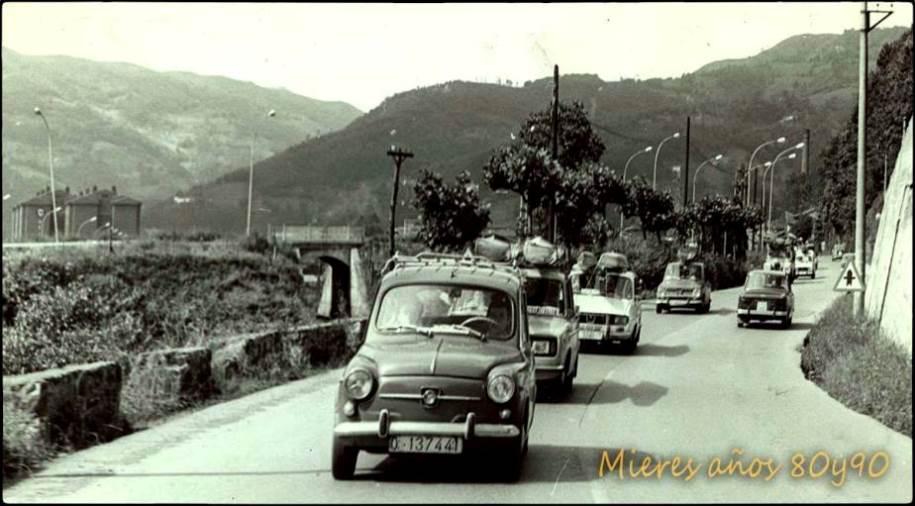 Salida de Mieres, actual carretera AS-242, hacia Figaredo  | José Ramón Viejo