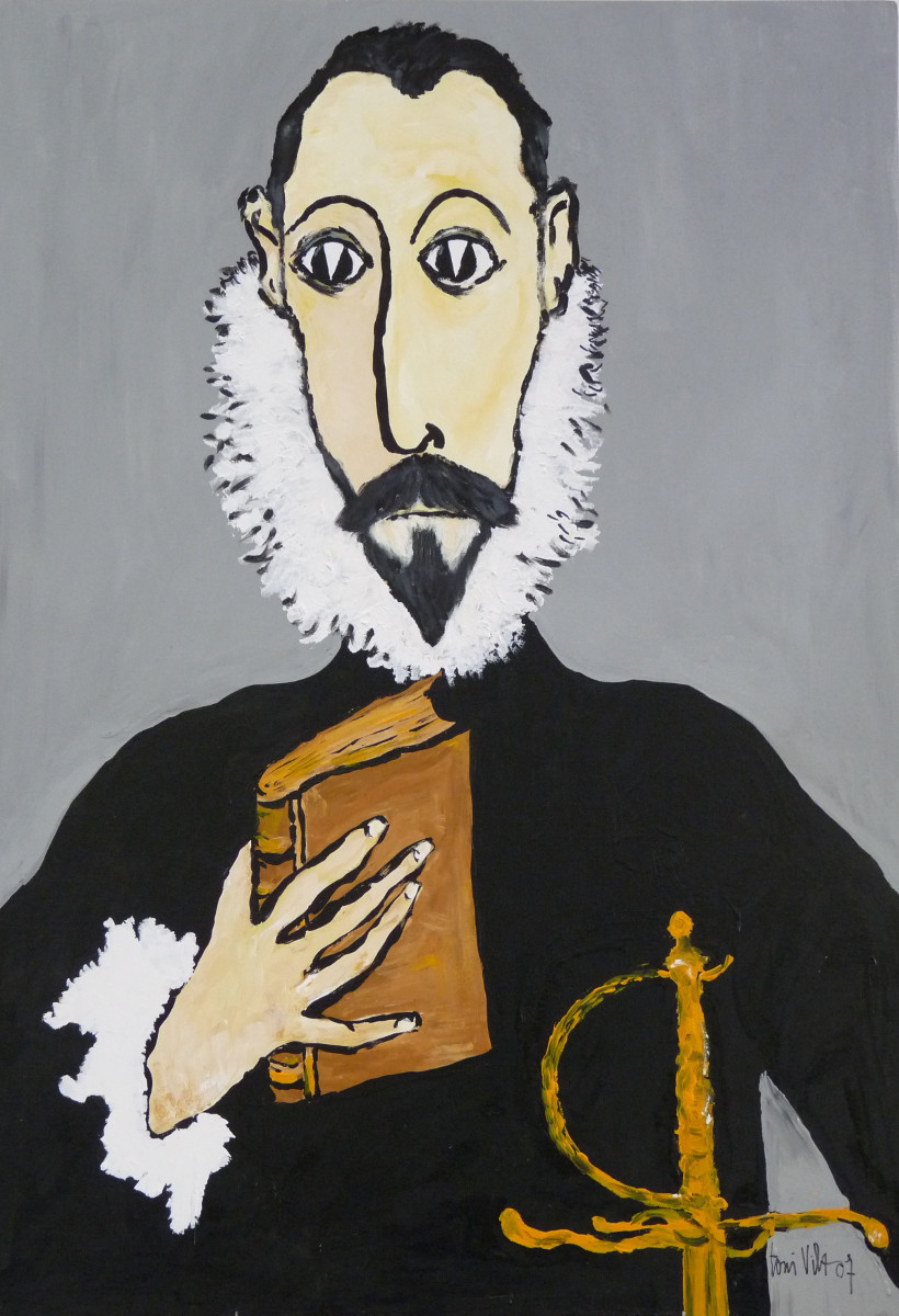Caballero con la mano en el pecho, El Greco   Toni Vila (70cm x 100cm)