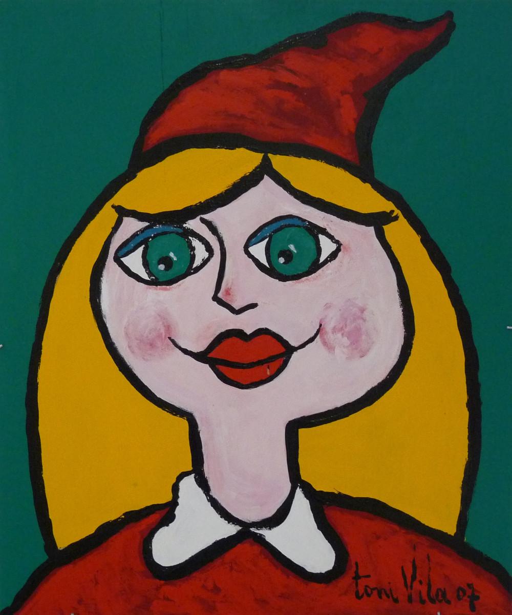 Caperucita   Toni Vila (40cm x 60 cm)