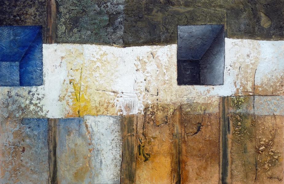 Autor: José Portilla ( Pigmentos sobre tabla 100x120cm)